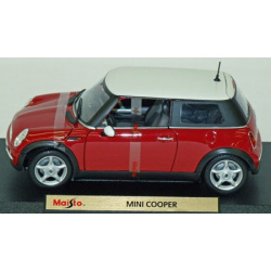 mini Cooper Red with white roof