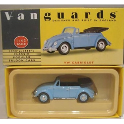 VW Cabrolet Blue Open Top Car