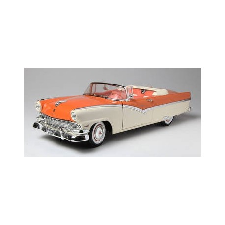 1956 Ford Sunliner Convertible Orange White