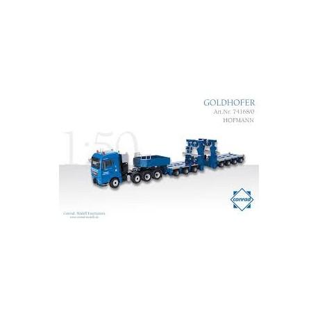 MAN TGX XLX met 3plus4 Combi Trailer Diecast Model Lorry