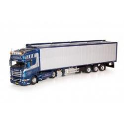 Scania R-serie Topline met Cargo Floor oplegger.