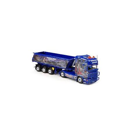 Scania R Topline met Meiller 3-assige kipoplegger