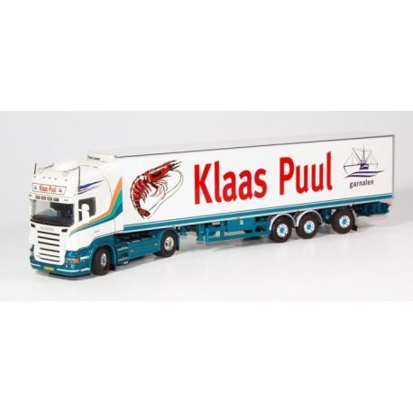 Scania R-serie Topline trekker met koeloplegger.