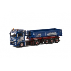MAN TGX XLX 4x2 HALF PIPE TIPPER TRAILER - 3 AXLE