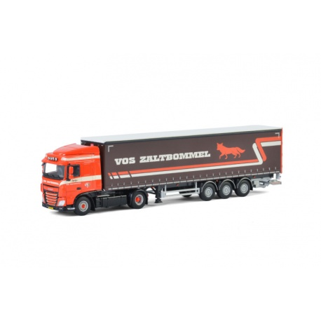 DAF XF SPACE CAB 4x2 CURTAINSIDE / TAUTLINER TRAILER - 3 AXLE