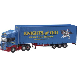 "SCANIA R Series Step Frame Curtainside Trailer ""Knights of Old"
