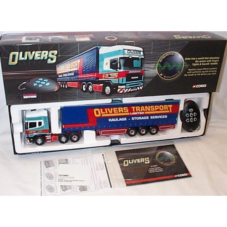Scania Topline curtainside trailer oliver transport